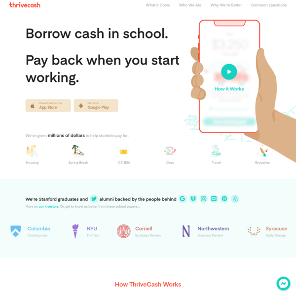 ThriveCash | Now live at your school!