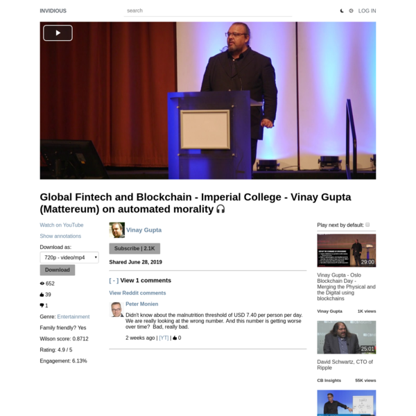 Global Fintech and Blockchain - Imperial College - Vinay Gupta (Mattereum) on automated morality