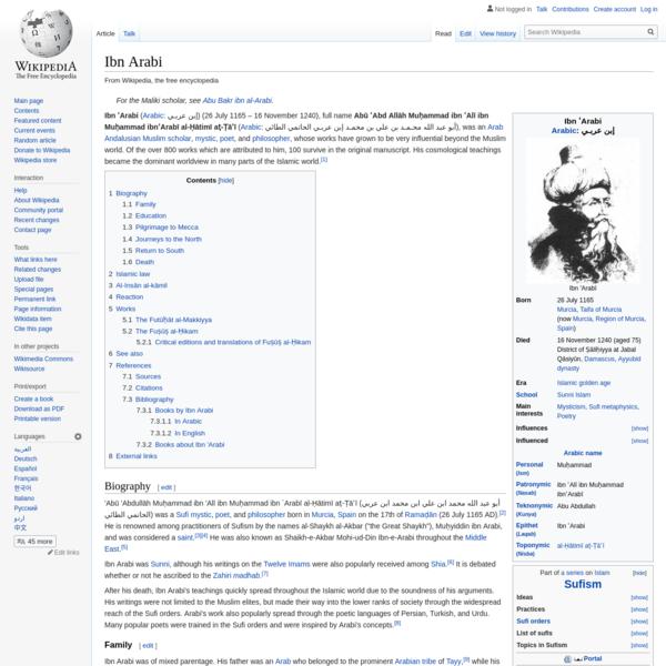 Ibn Arabi - Wikipedia