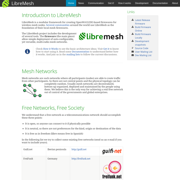 The LibreMesh project