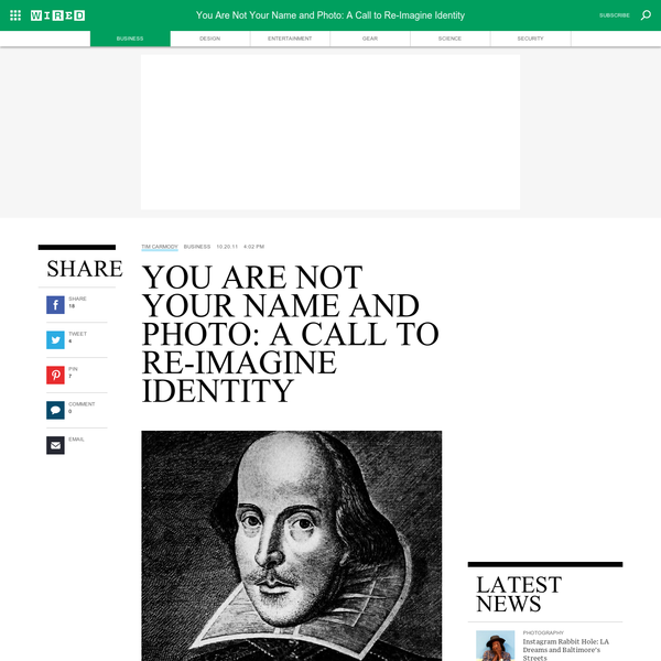 You Are Not Your Name and Photo: A Call to Re-Imagine Identity