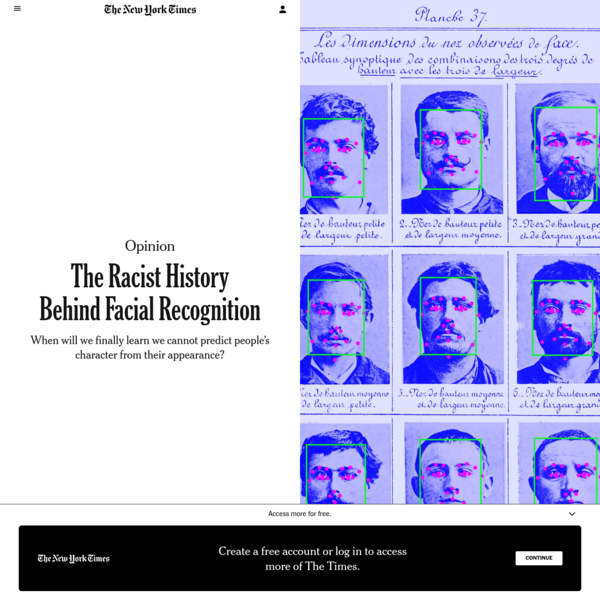 Opinion   The Racist History Behind Facial Recognition - The New York Times
