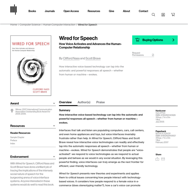 Wired for Speech