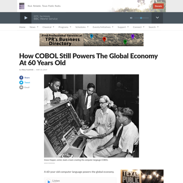 How COBOL Still Powers The Global Economy At 60 Years Old | Texas Public Radio