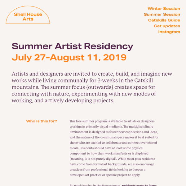 Summer Session - Shell House Arts