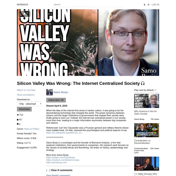 Silicon Valley Was Wrong: The Internet Centralized Society