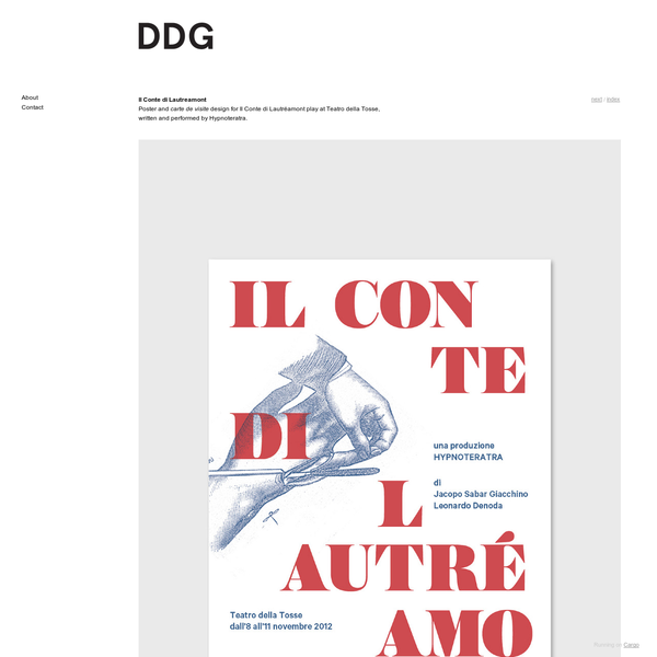 Il Conte di Lautreamont - Davide Di Gennaro - Graphic Design