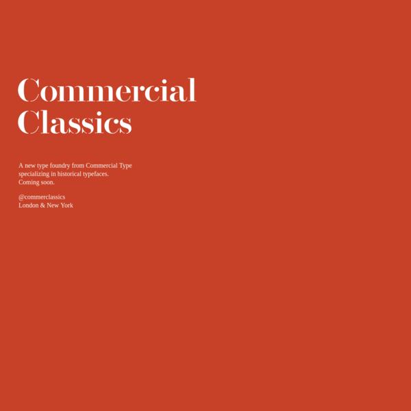 Commercial Classics