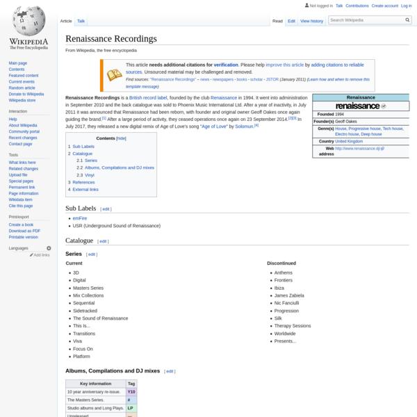 Renaissance Recordings - Wikipedia