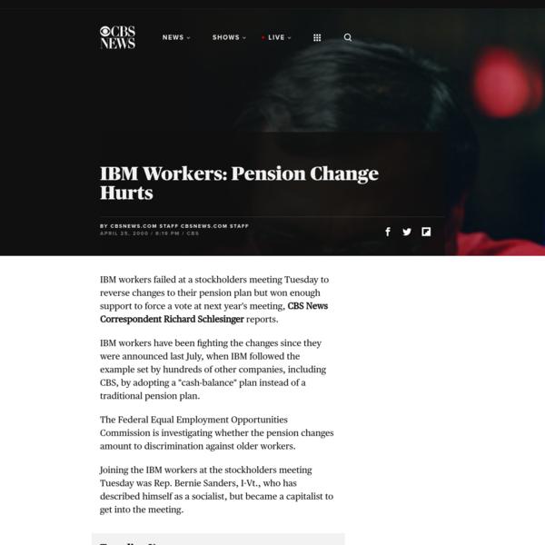 IBM Workers: Pension Change Hurts