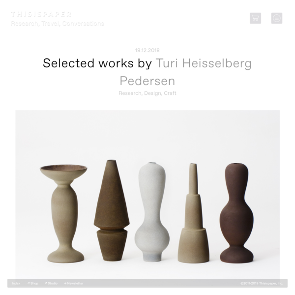 Turi Heisselberg Pedersen: Selected works - Thisispaper Magazine