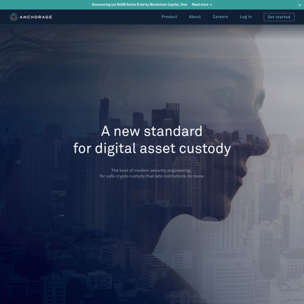 Anchorage Crypto Custody - Secure digital asset custodian