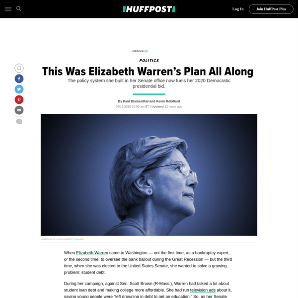 This Was Elizabeth Warren's Plan All Along   HuffPost