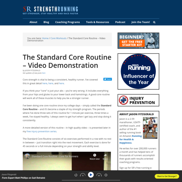 The Standard Core Routine - Video Demonstration | Strength Running