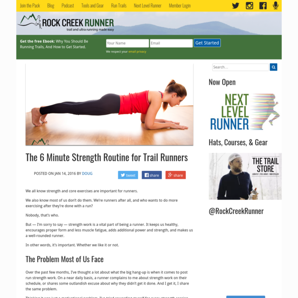 The 6 Minute Strength Routine for Trail Runners (With Printable Guide)