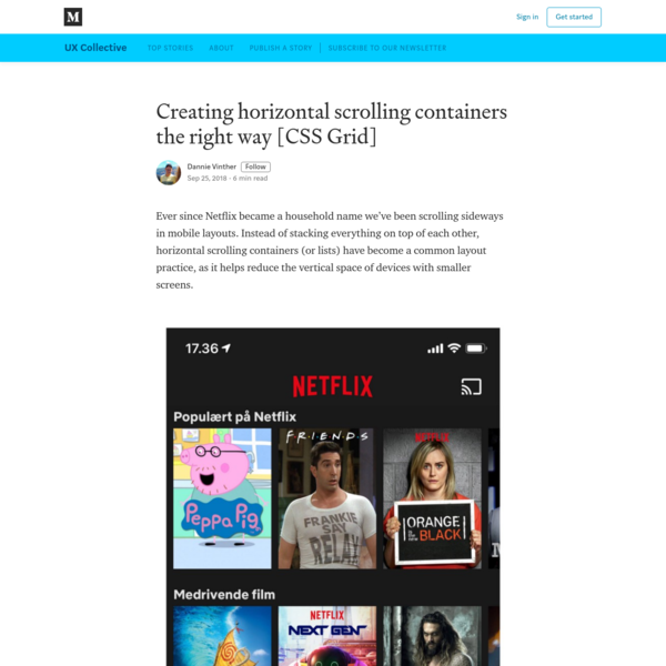 Creating horizontal scrolling containers the right way [CSS Grid]