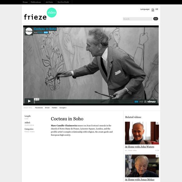 Cocteau in Soho | Frieze Video