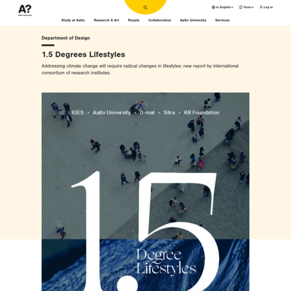 1.5 Degrees Lifestyles | Aalto University