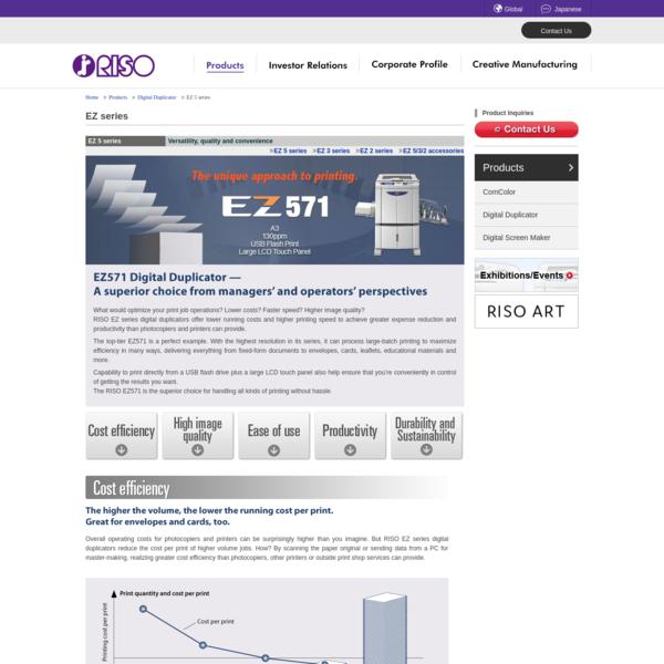 EZ 5 series: Digital Duplicator | RISO
