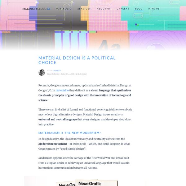 Material Design is a political choice