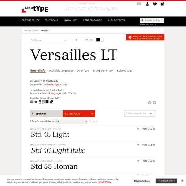 Versailles™ LT font family | Linotype.com