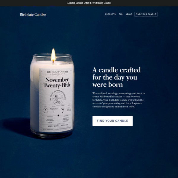 Birthdate Candles - A Reading and Scent Uniquely for Your Birthday