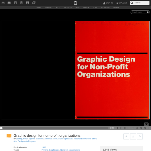 Graphic design for non-profit organizations : Laundy, Peter : Free Download, Borrow, and Streaming : Internet Archive