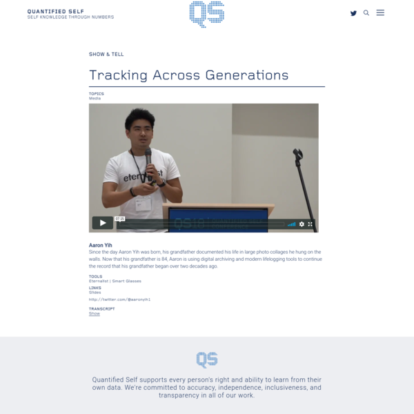 Show & Tell Projects Archive - Quantified Self