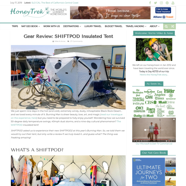 Gear Review: SHIFTPOD Insulated Tent - HoneyTrek