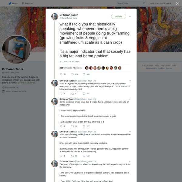 Dr Sarah Taber on Twitter