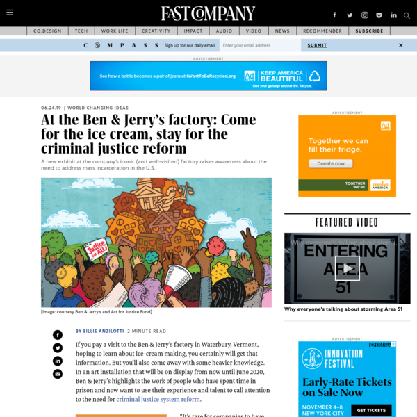 At the Ben & Jerry's factory: Come for the ice cream, stay for the criminal justice reform