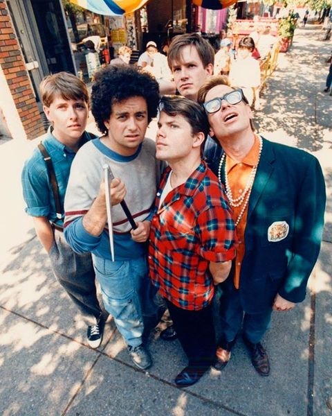 #FlashbackFriday: Kids in the Hall stars, from left, David Foley, Kevin McDonald, Mark McKinney, Bruce McCulloch and Scott T...
