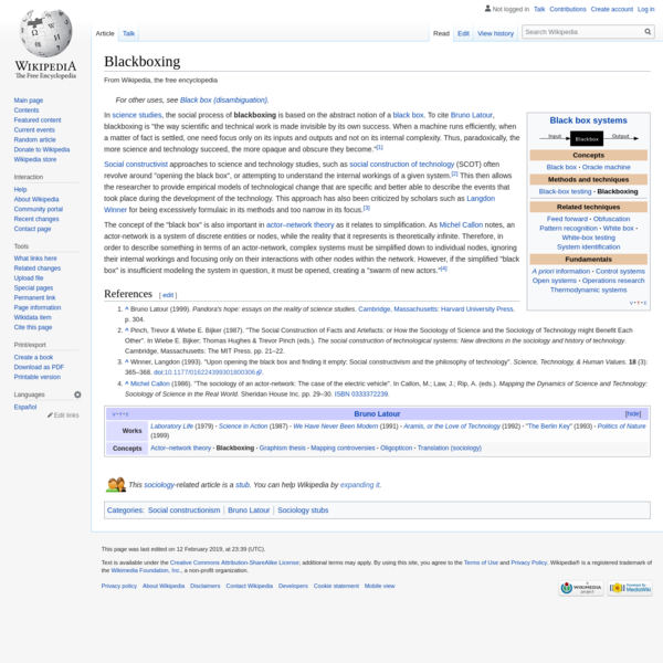 Blackboxing - Wikipedia