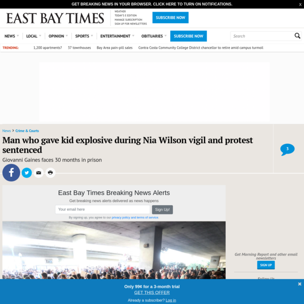 Oakland Nia Wilson protestor sentenced for bomb throwing