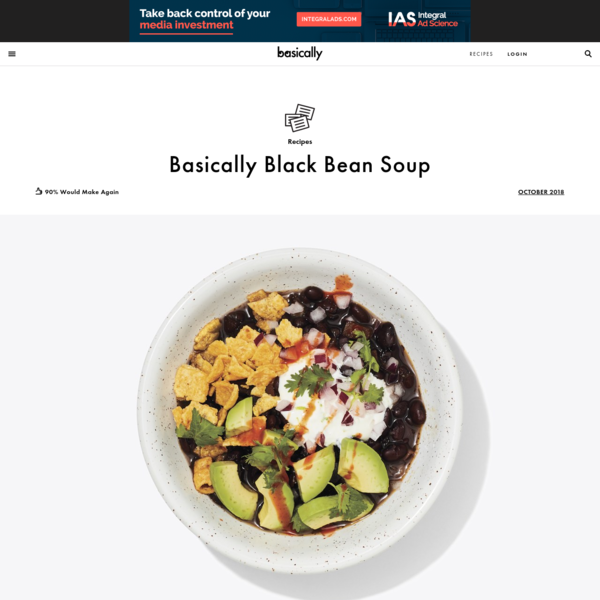 Basically Black Bean Soup Recipe