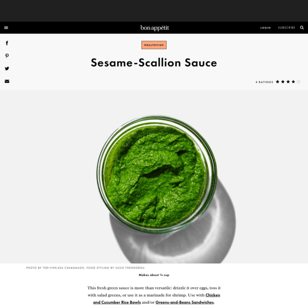 Sesame-Scallion Sauce Recipe