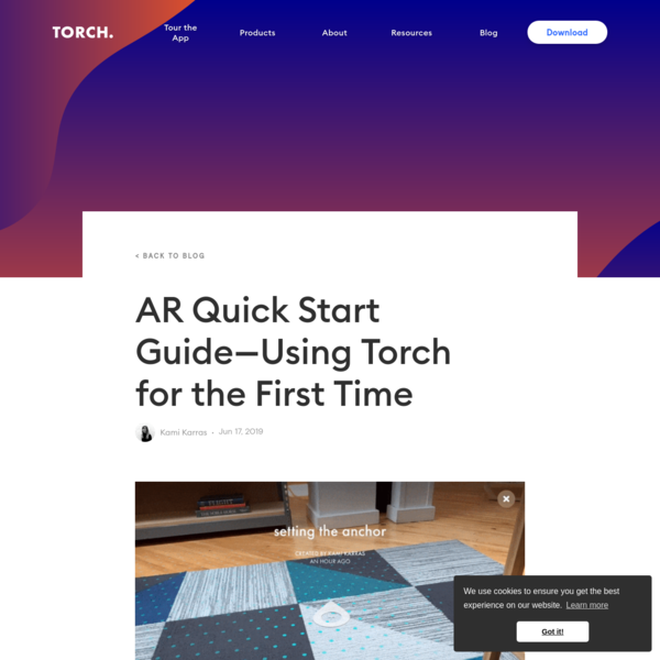 AR Quick Start Guide-Using Torch for the First Time
