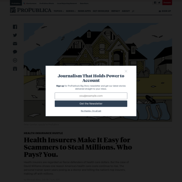 Health Insurers Make It Easy for Scammers to Steal Millions. Who Pays? You. - ProPublica