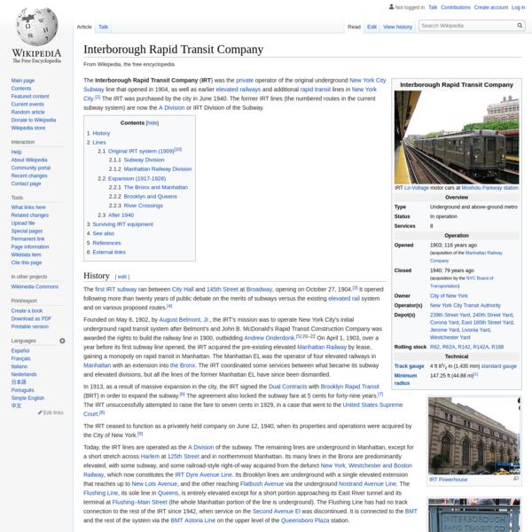 Interborough Rapid Transit Company - Wikipedia