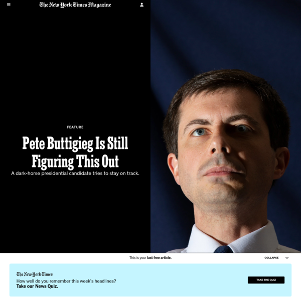 Pete Buttigieg Is Still Figuring This Out - The New York Times
