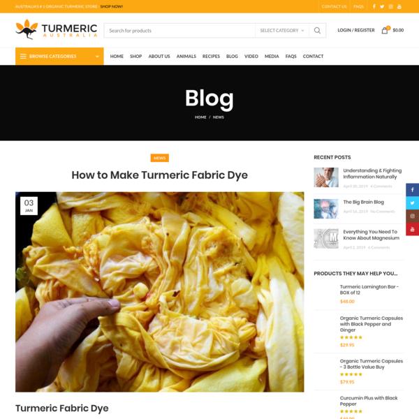 How to Make Turmeric Fabric Dye | Turmeric Australia