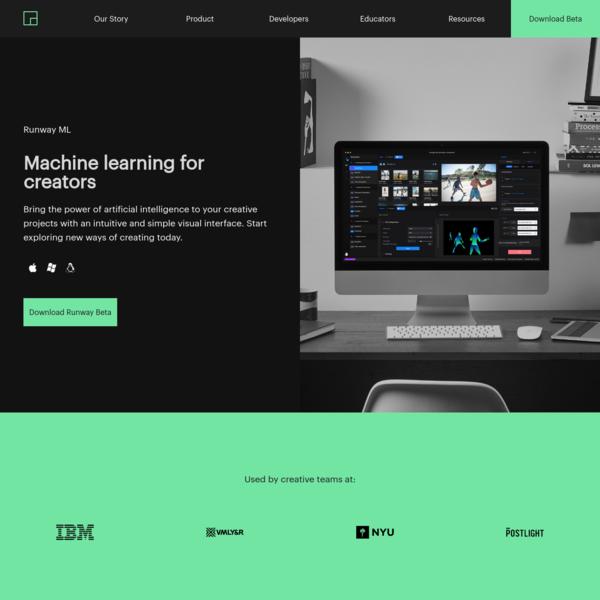 Runway ML   Machine learning for creators