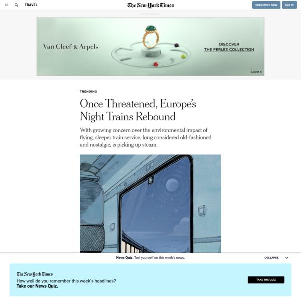 Once Threatened, Europe's Night Trains Rebound