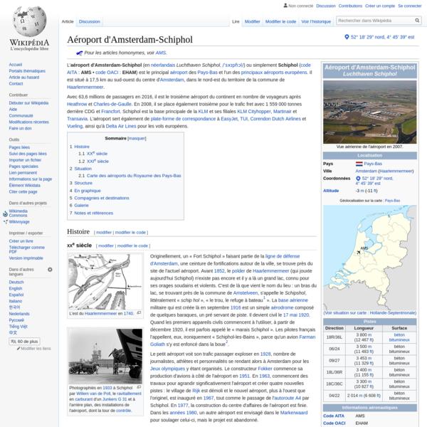 Aéroport d'Amsterdam-Schiphol - Wikipédia