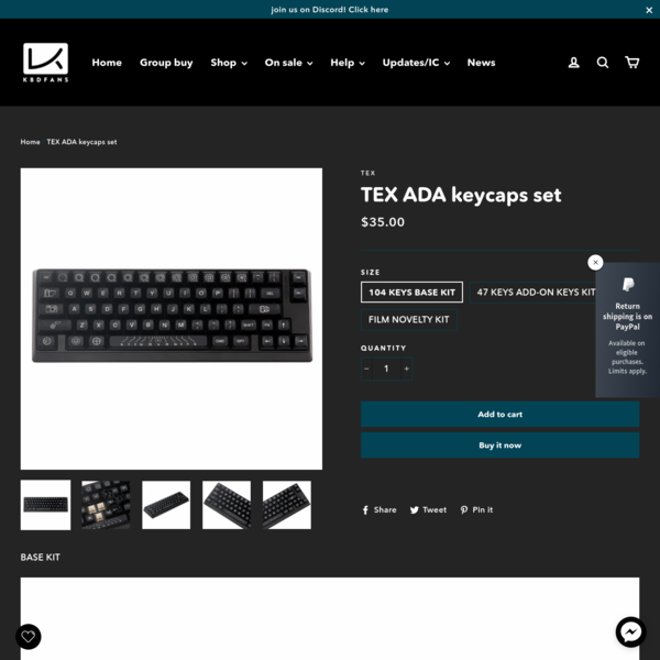 TEX ADA keycaps set – KBDfans