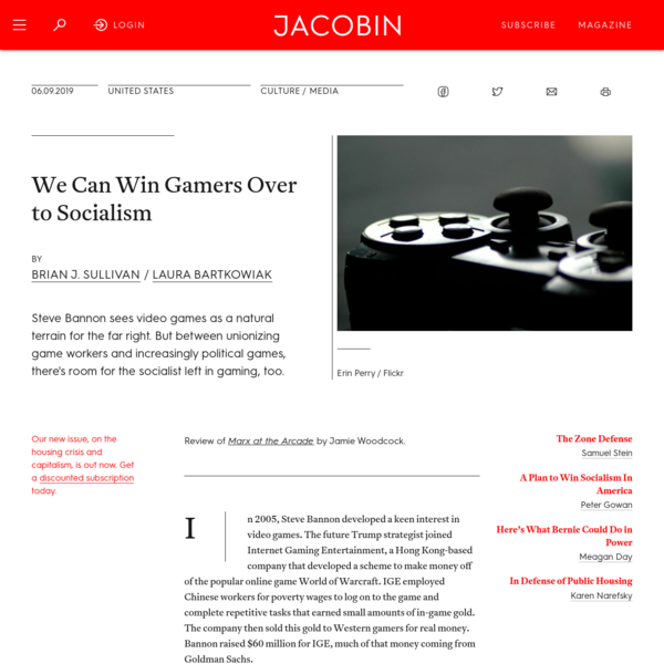 We Can Win Gamers Over to Socialism