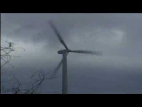 Danish Windturbine colapses in storm