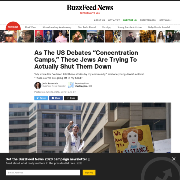 "As The US Debates ""Concentration Camps,"" These Jews Are Trying To Actually Shut Them Down"