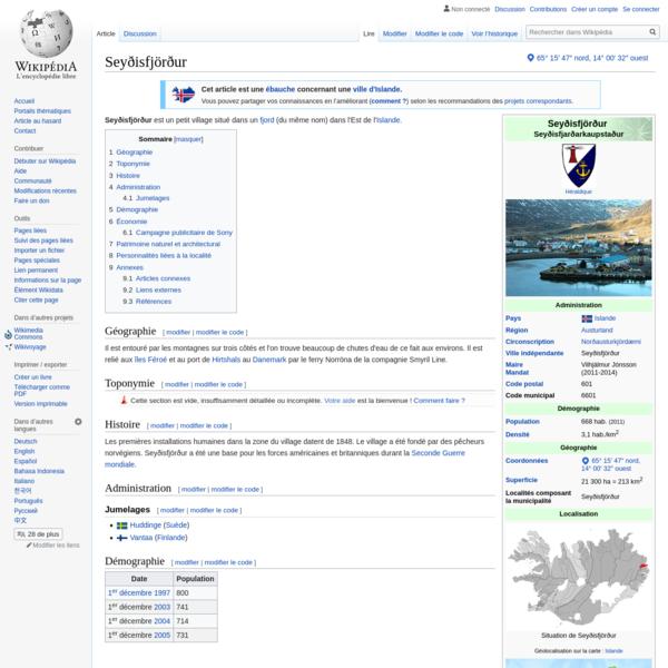 Seyðisfjörður - Wikipédia