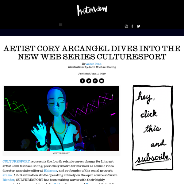 Artist Cory Arcangel Dives into the New Web Series CULTURESPORT